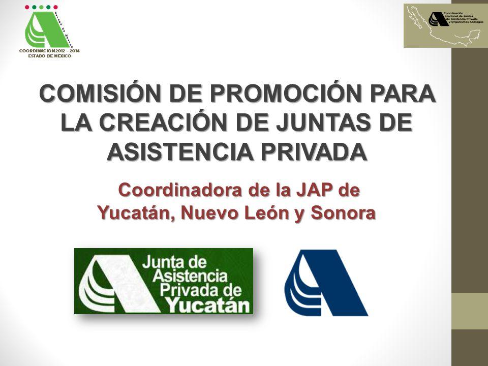 COMISIÓN DE PROMOCIÓN PARA LA CREACIÓN DE JUNTAS DE ASISTENCIA PRIVADA
