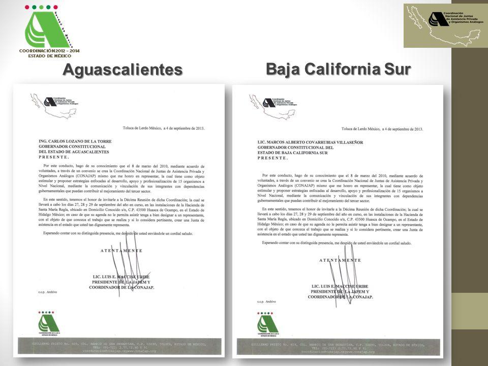 Aguascalientes Baja California Sur