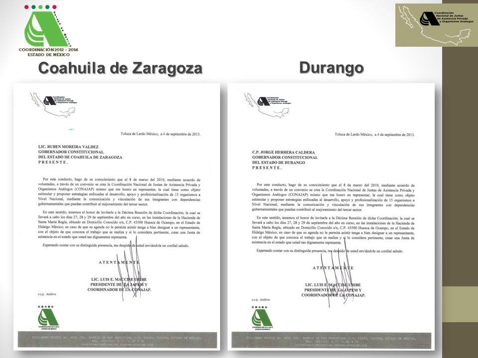 Coahuila de Zaragoza Durango