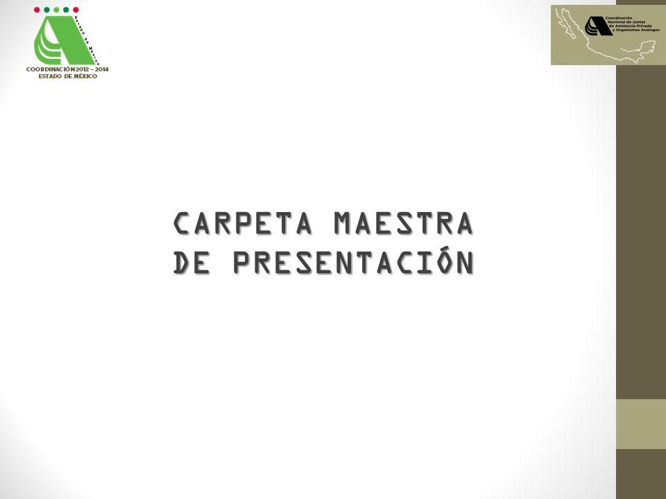 CARPETA MAESTRA DE PRESENTACIÓN