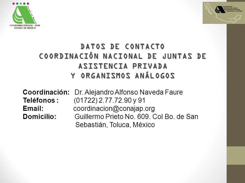COORDINACIÓN NACIONAL DE JUNTAS DE ASISTENCIA PRIVADA