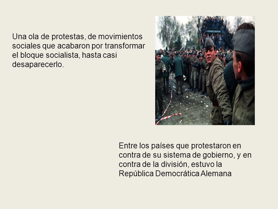 Una ola de protestas, de movimientos sociales que acabaron por transformar el bloque socialista, hasta casi desaparecerlo.