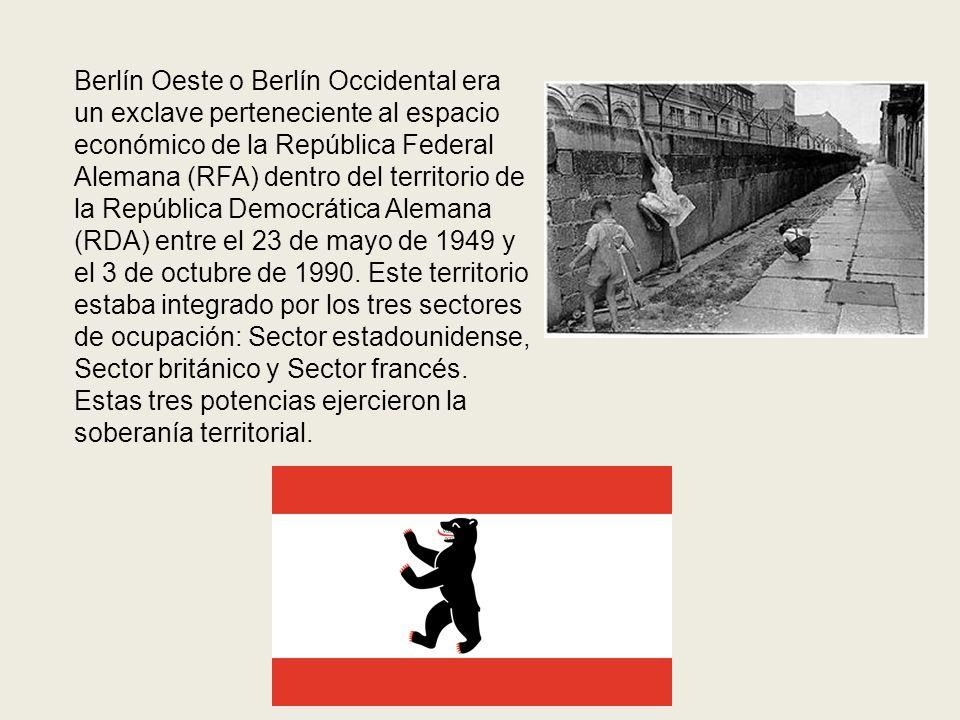 Berlín Oeste o Berlín Occidental era un exclave perteneciente al espacio económico de la República Federal Alemana (RFA) dentro del territorio de la República Democrática Alemana (RDA) entre el 23 de mayo de 1949 y el 3 de octubre de 1990.