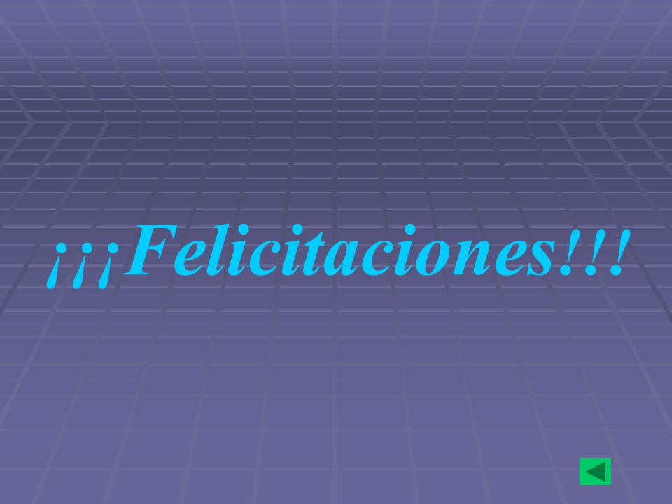 ¡¡¡Felicitaciones!!!