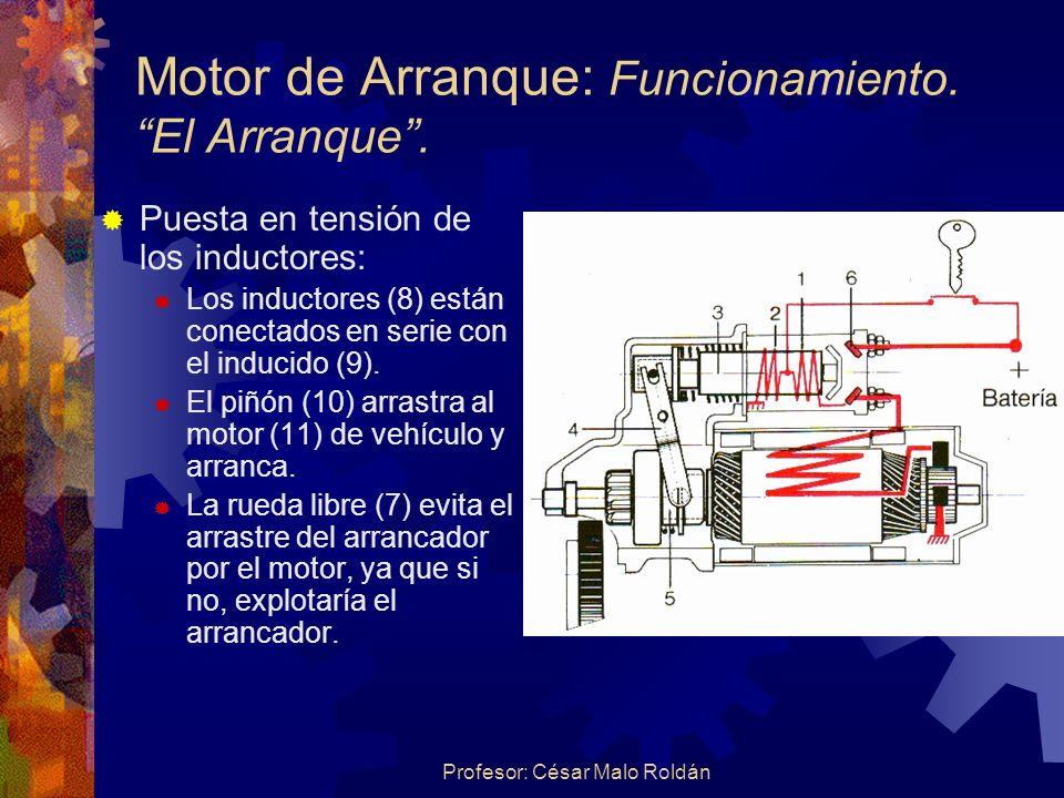 Motor de Arranque: Funcionamiento. El Arranque .