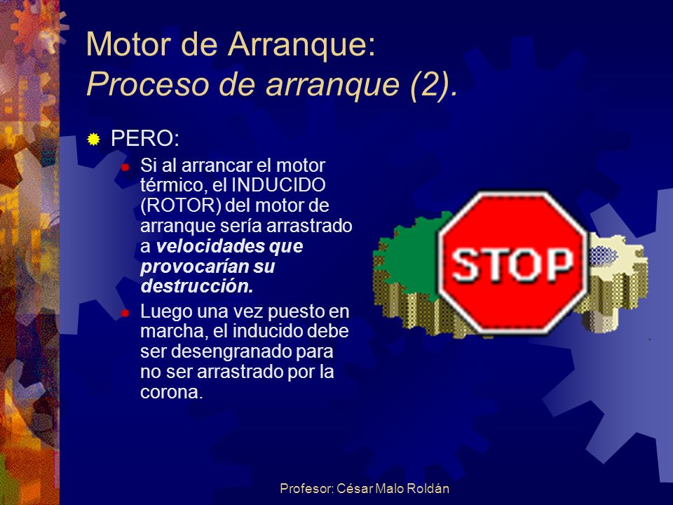 Motor de Arranque: Proceso de arranque (2).