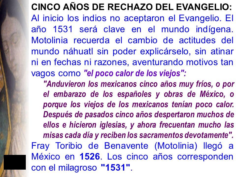 CINCO AÑOS DE RECHAZO DEL EVANGELIO: