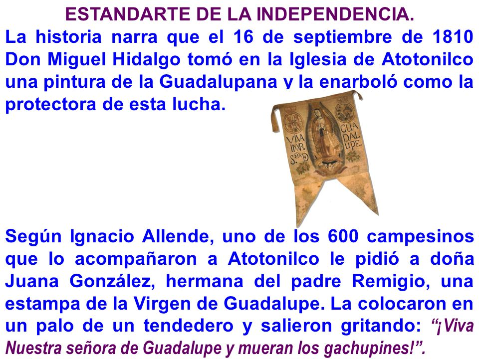 ESTANDARTE DE LA INDEPENDENCIA.