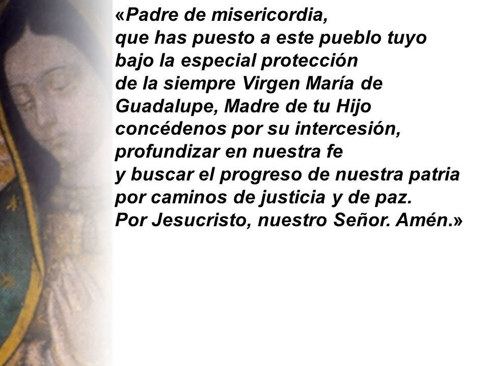«Padre de misericordia,