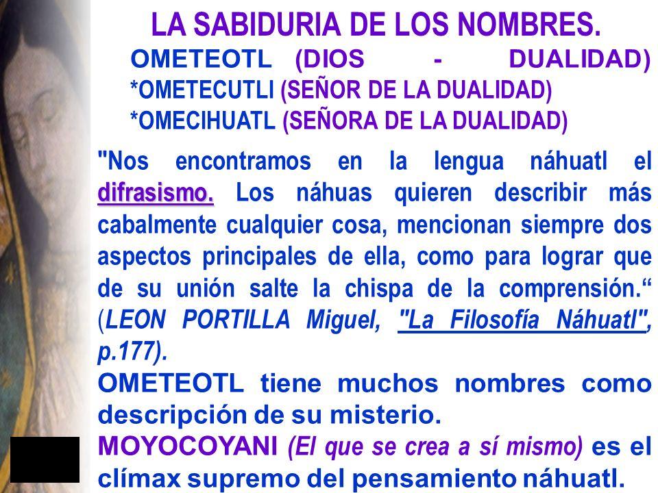 LA SABIDURIA DE LOS NOMBRES.