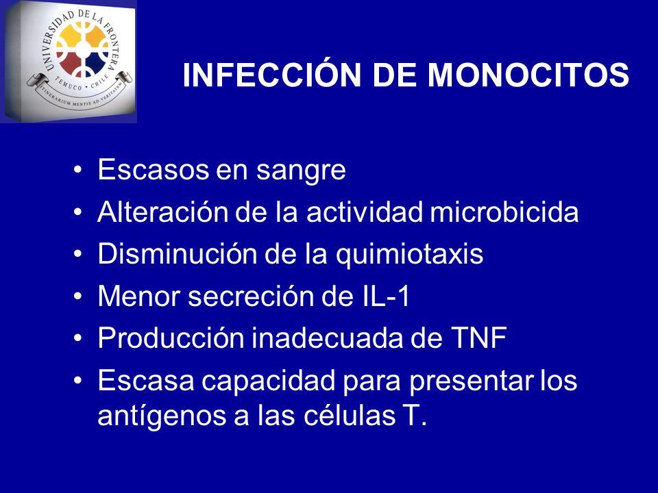 INFECCIÓN DE MONOCITOS