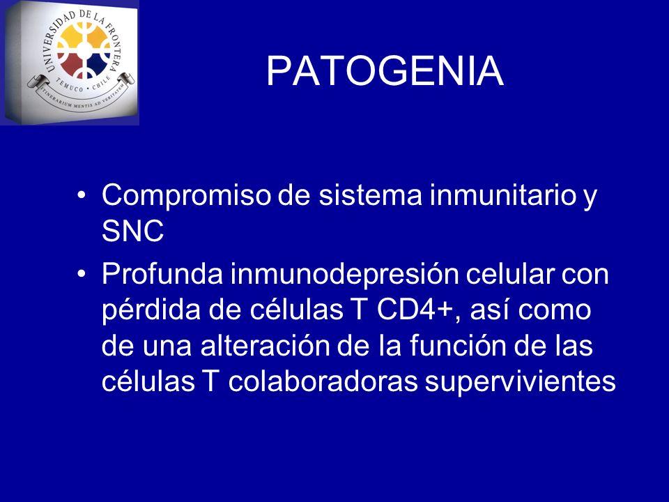 PATOGENIA Compromiso de sistema inmunitario y SNC