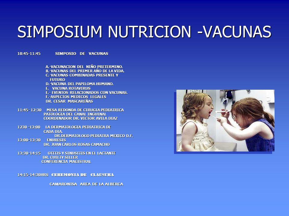 SIMPOSIUM NUTRICION -VACUNAS