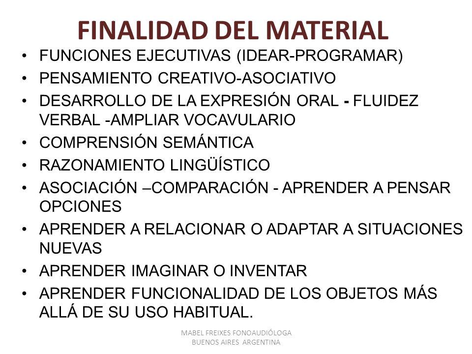 FINALIDAD DEL MATERIAL