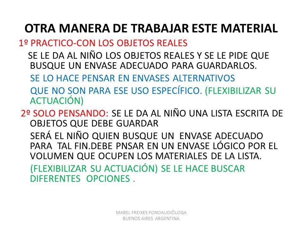OTRA MANERA DE TRABAJAR ESTE MATERIAL