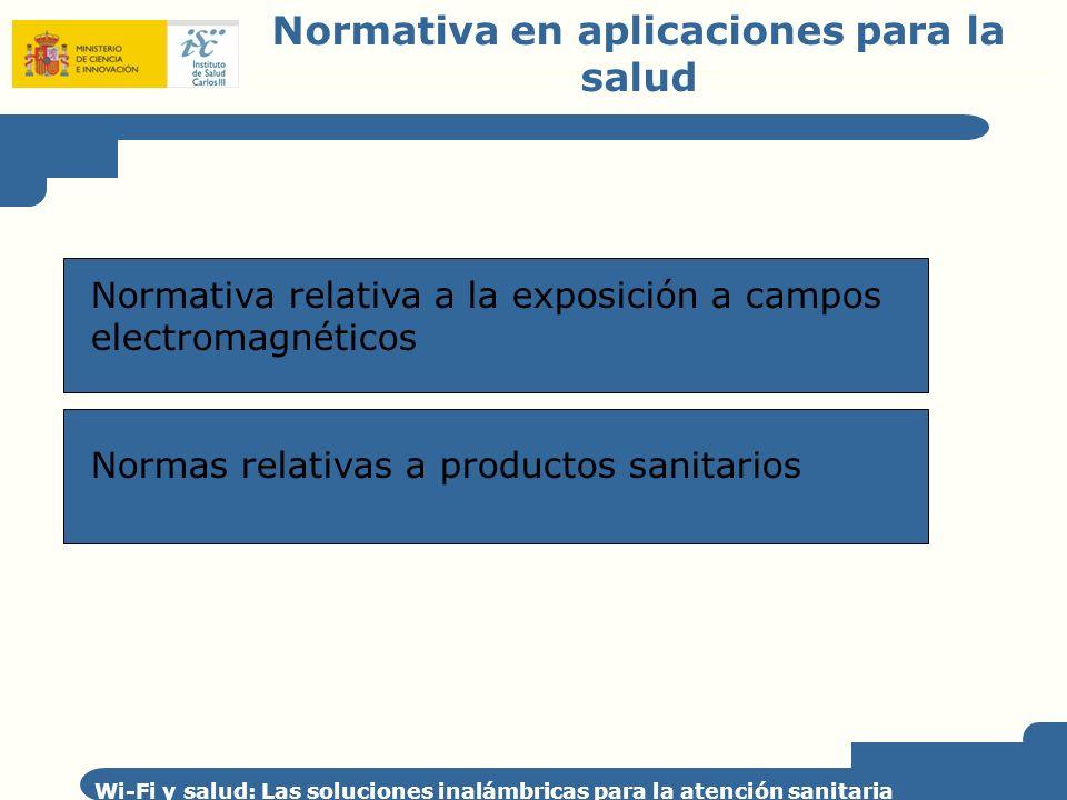 Normativa en aplicaciones para la salud