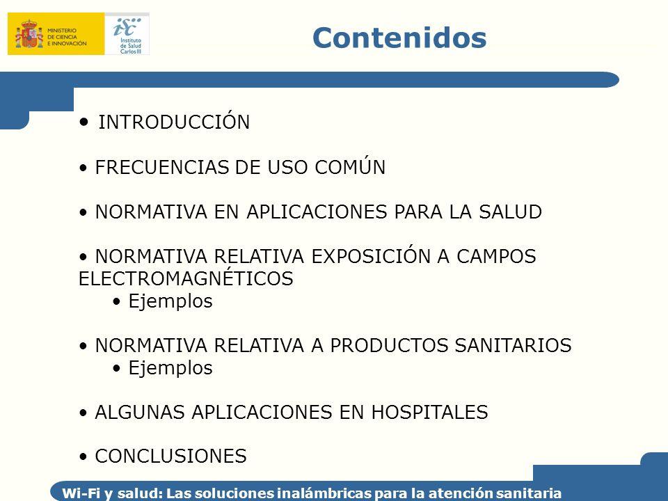 Contenidos INTRODUCCIÓN FRECUENCIAS DE USO COMÚN