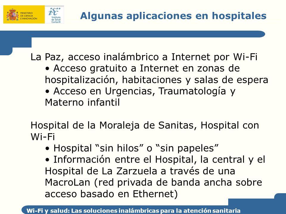 Algunas aplicaciones en hospitales
