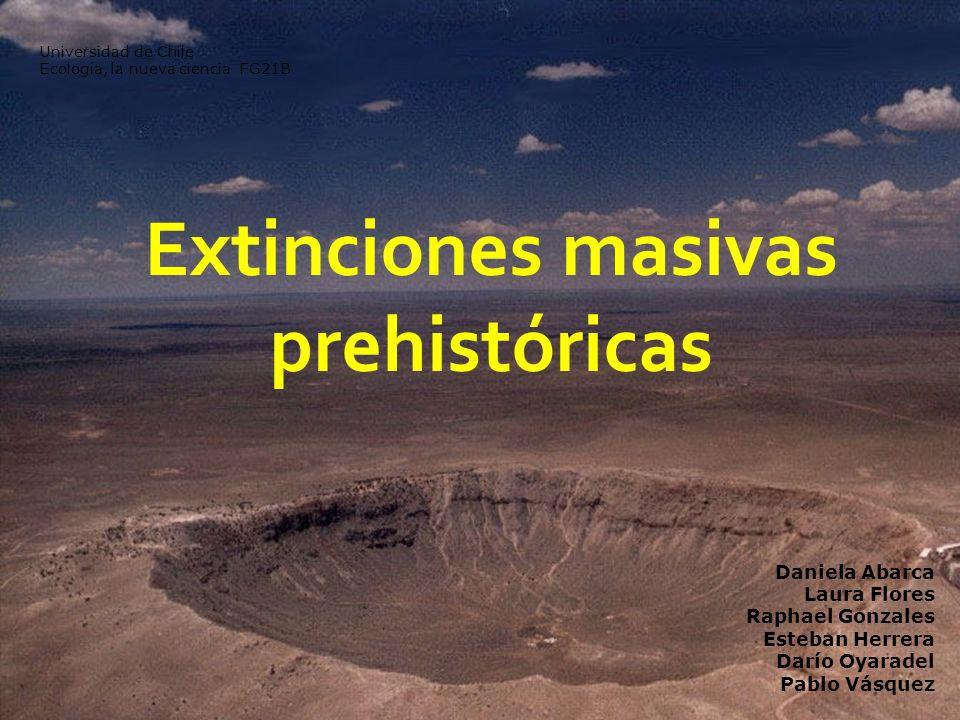 Extinciones masivas prehistóricas