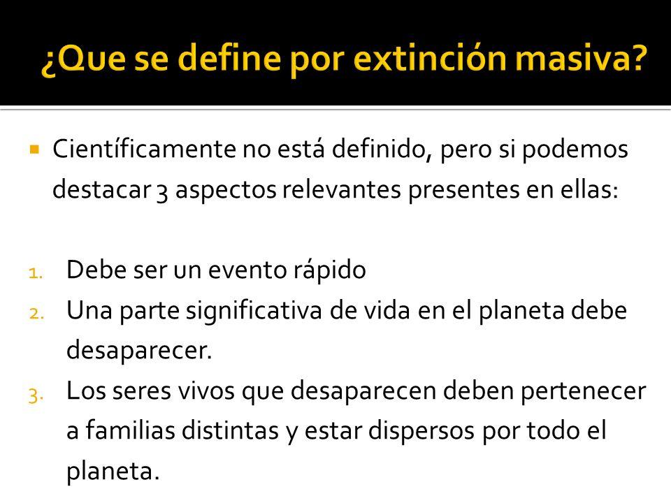 ¿Que se define por extinción masiva