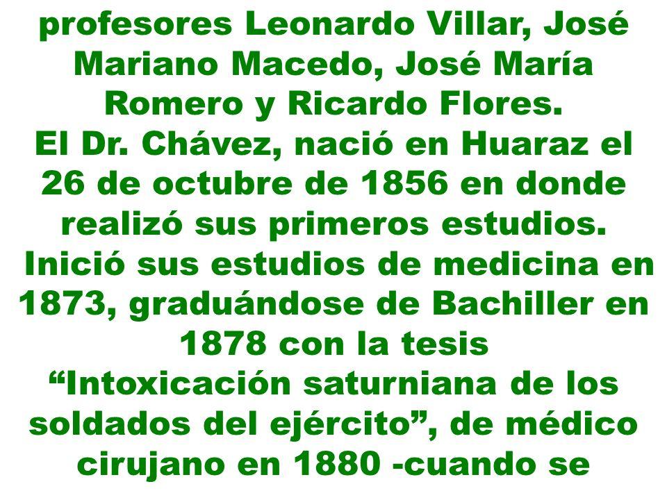 profesores Leonardo Villar, José Mariano Macedo, José María Romero y Ricardo Flores.