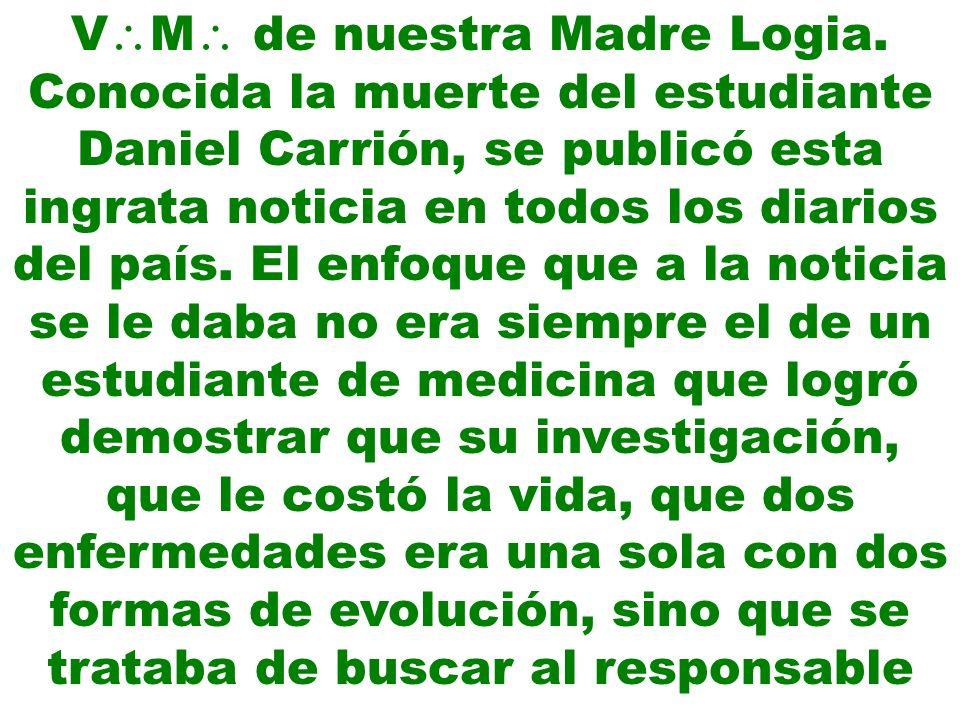 VM de nuestra Madre Logia.