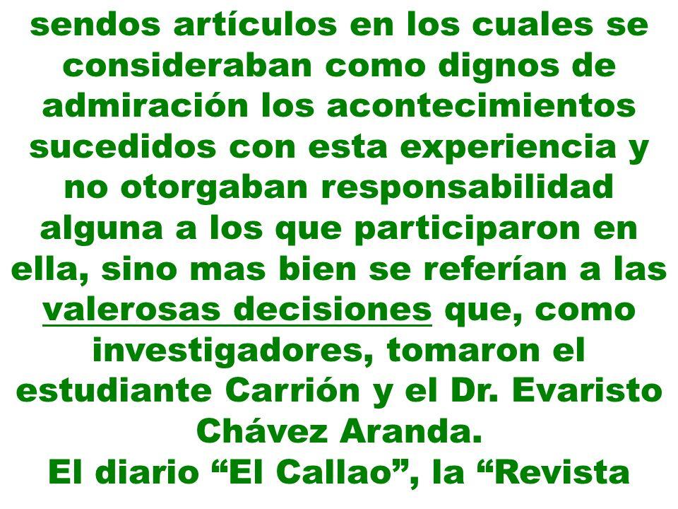 El diario El Callao , la Revista