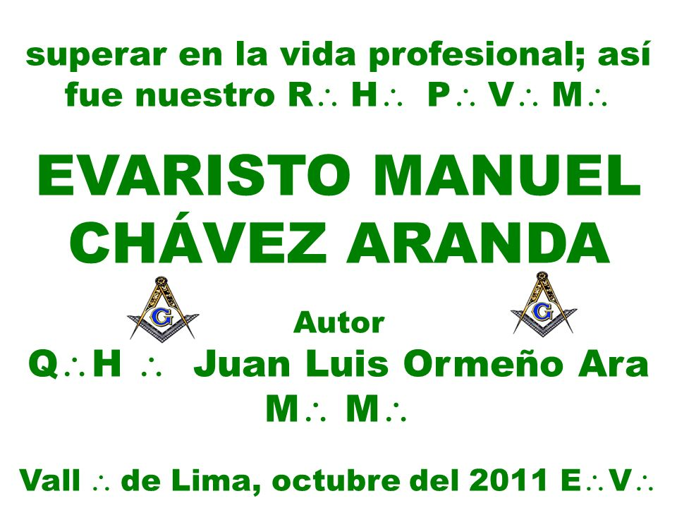 EVARISTO MANUEL CHÁVEZ ARANDA