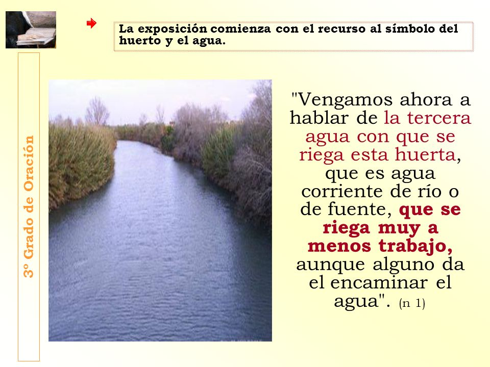 La exposición comienza con el recurso al símbolo del huerto y el agua.