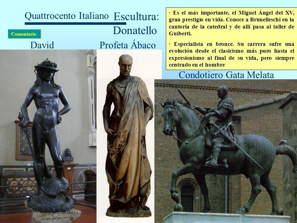 Escultura: Donatello David Profeta Ábaco Condotiero Gata Melata