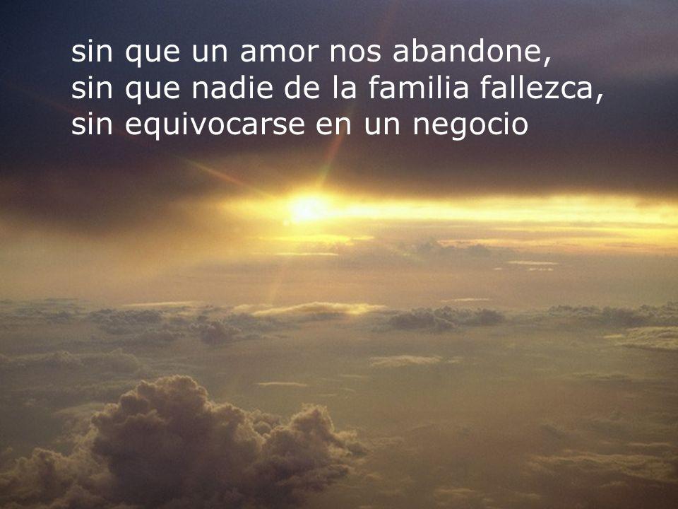 RECOMENZAR sin que un amor nos abandone,