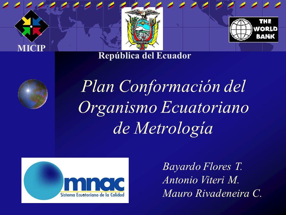 Plan Conformación del Organismo Ecuatoriano de Metrología