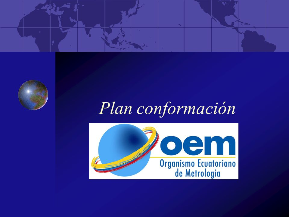Plan conformación
