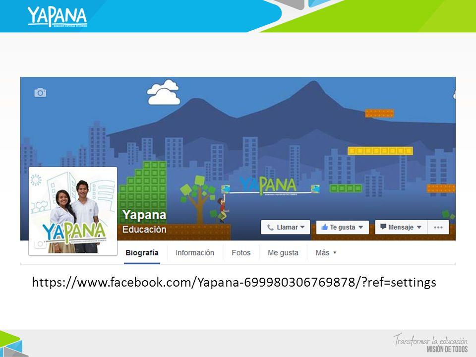 https://www.facebook.com/Yapana-699980306769878/ ref=settings