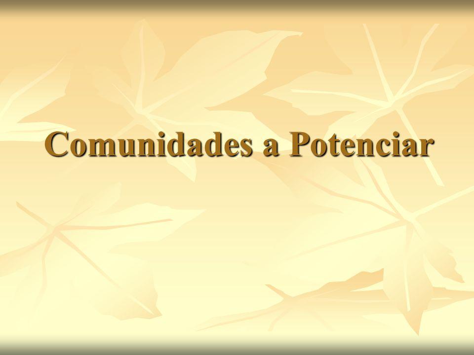 Comunidades a Potenciar