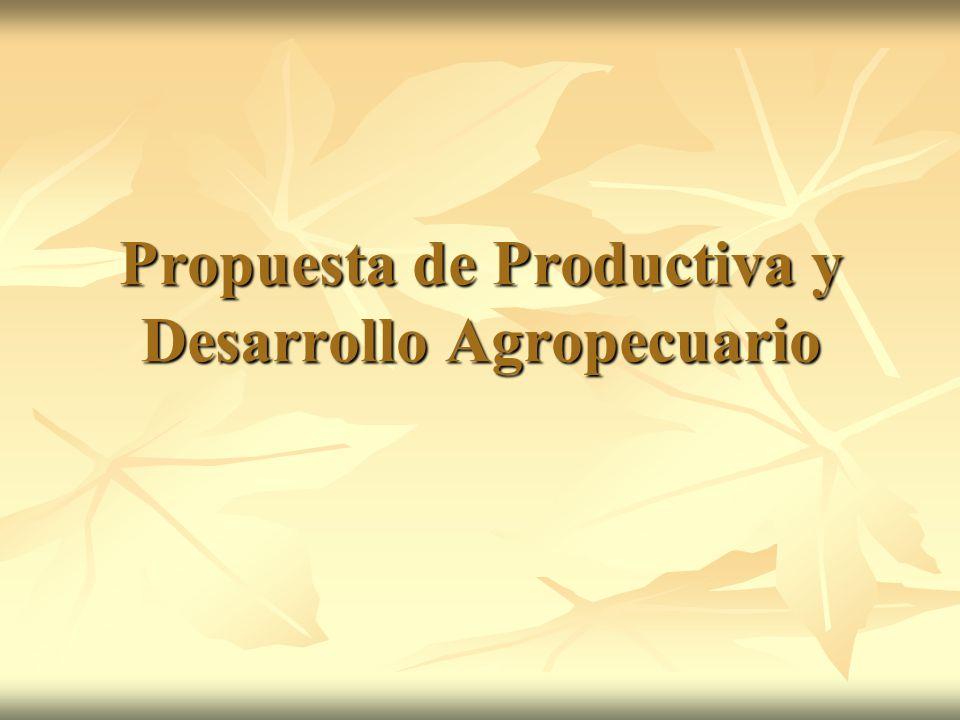 Propuesta de Productiva y Desarrollo Agropecuario