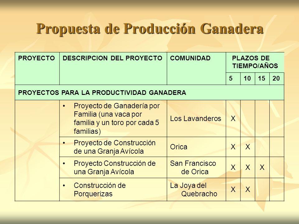 Propuesta de Producción Ganadera