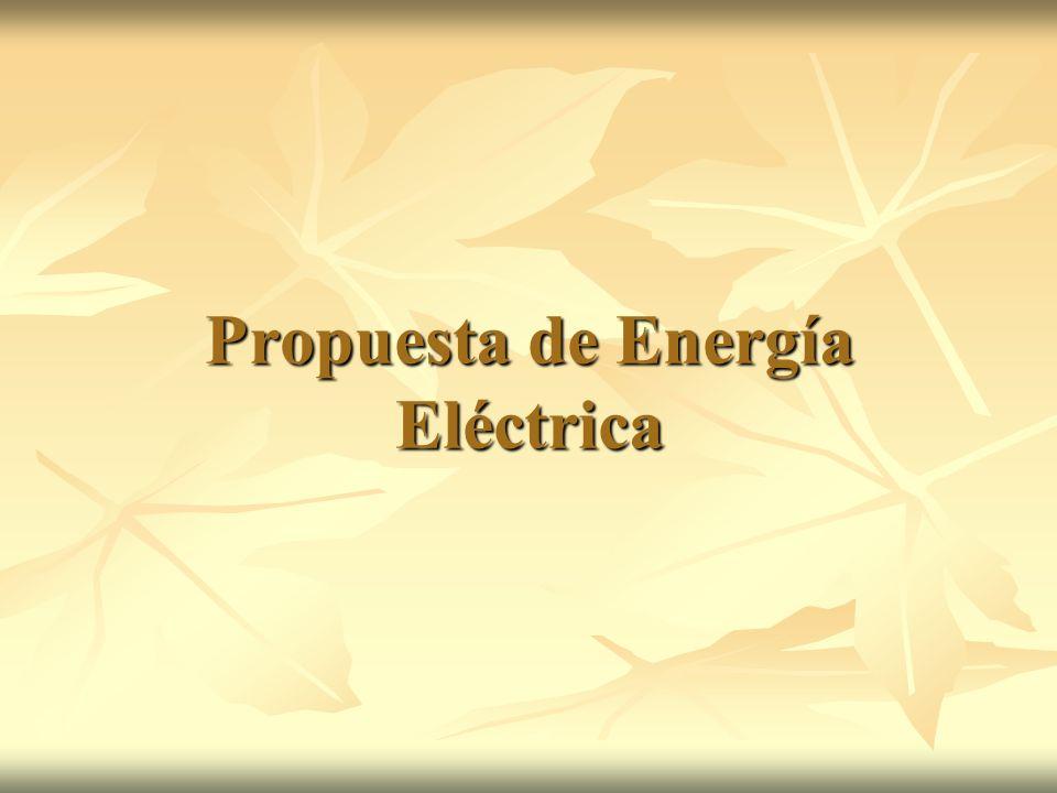 Propuesta de Energía Eléctrica