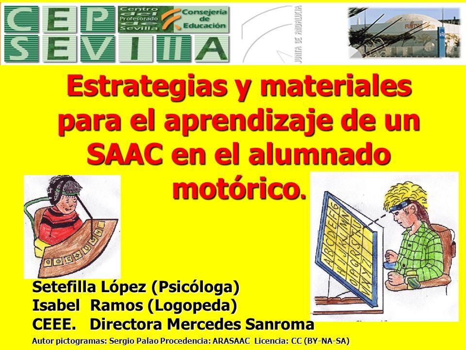 Estrategias y materiales para el aprendizaje de un SAAC en el alumnado motórico.