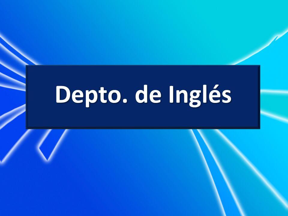Depto. de Inglés