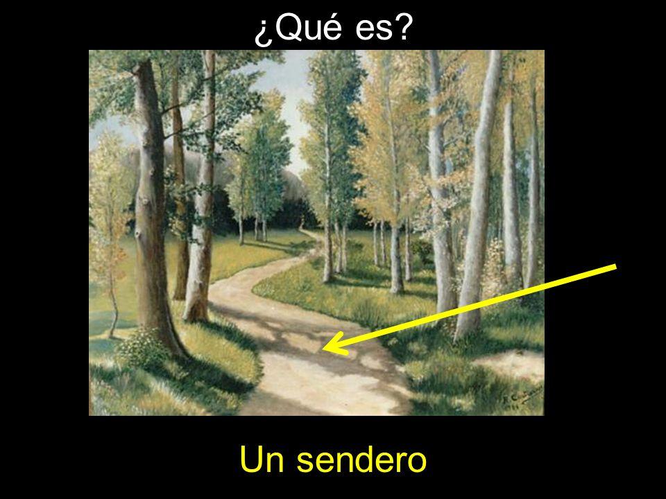 ¿Qué es Un sendero