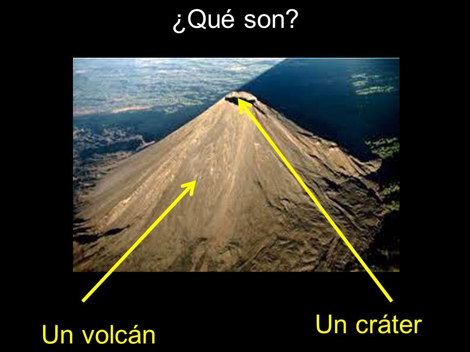 ¿Qué son Un cráter Un volcán