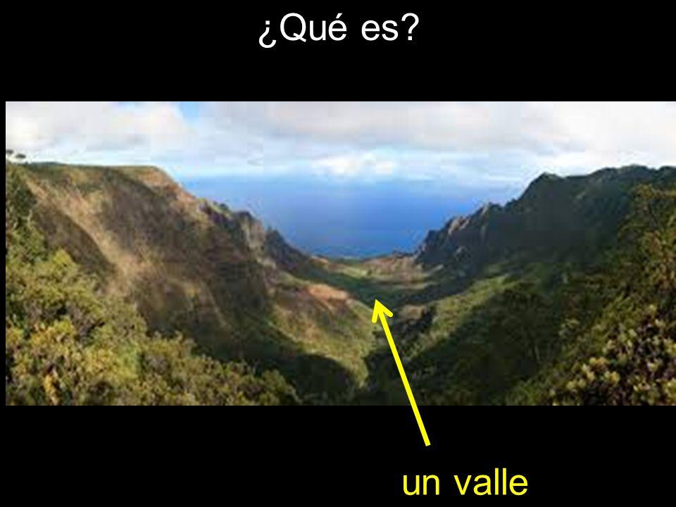 ¿Qué es un valle