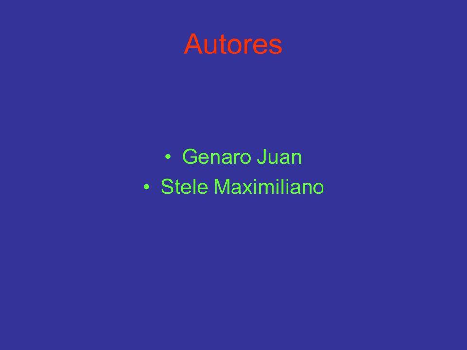 Autores Genaro Juan Stele Maximiliano
