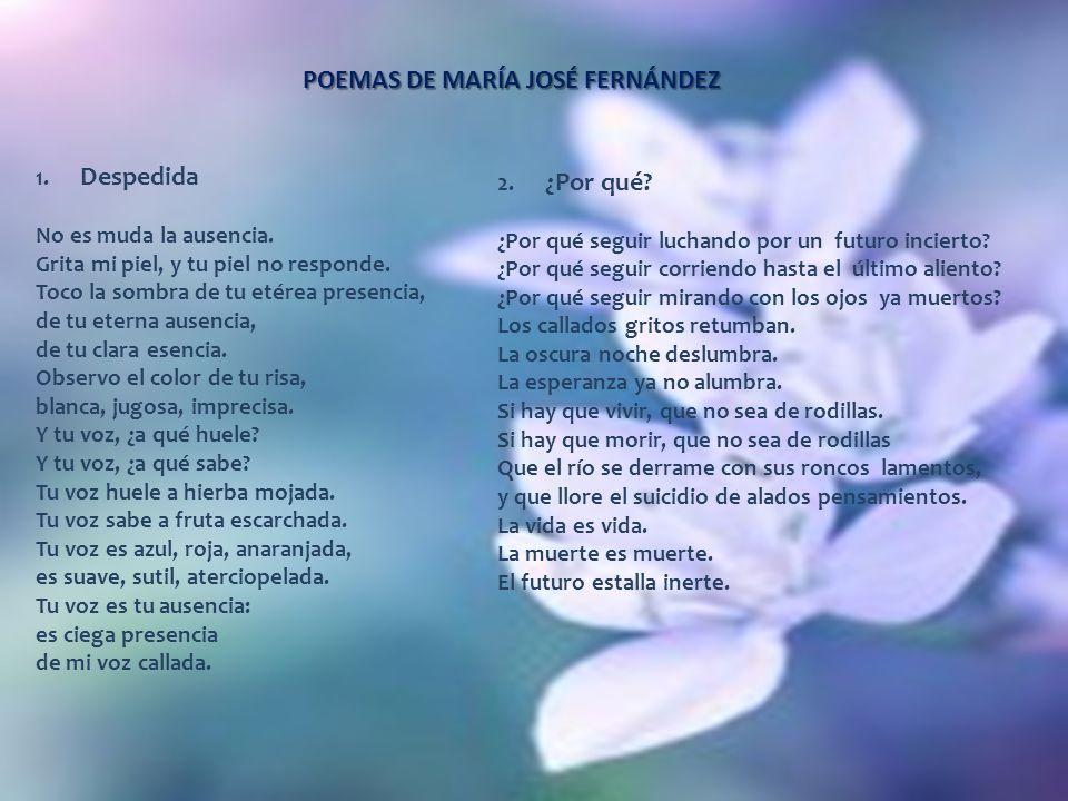 POEMAS DE MARÍA JOSÉ FERNÁNDEZ
