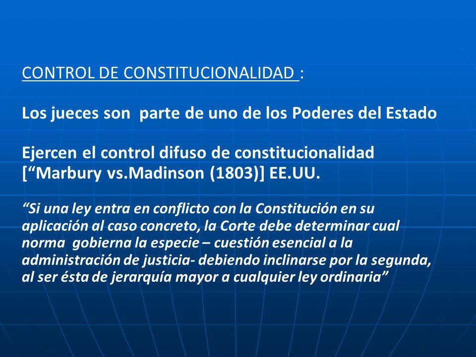 CONTROL DE CONSTITUCIONALIDAD :
