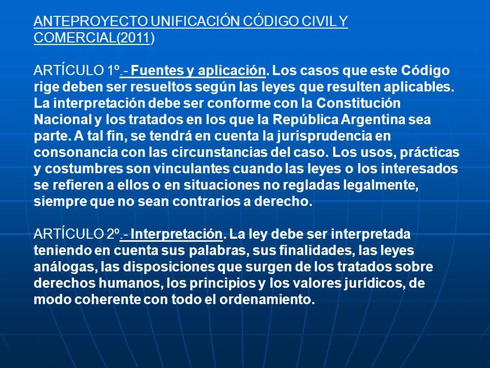 ANTEPROYECTO UNIFICACIÓN CÓDIGO CIVIL Y COMERCIAL(2011)