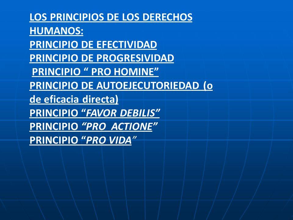 LOS PRINCIPIOS DE LOS DERECHOS HUMANOS: