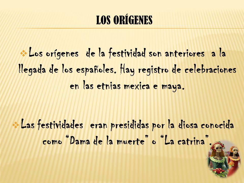 Los orígenes Los orígenes de la festividad son anteriores a la llegada de los españoles. Hay registro de celebraciones en las etnias mexica e maya.