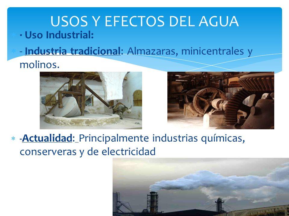 USOS Y EFECTOS DEL AGUA · Uso Industrial: